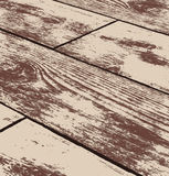 Abstract brown grunge wood texture in perspective Royalty Free Stock Image