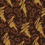 Abstract brown pattern. Decorative bright ethnic seamless pattern. Vector illustration Stock Photo