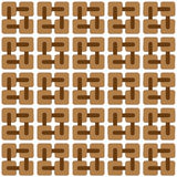 Abstract brown pattern with small squares Stock Photo