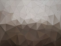 Abstract brown polygonal background Stock Images