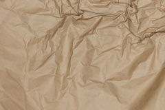 Abstract brown recycle crumpled paper for background Royalty Free Stock Photography