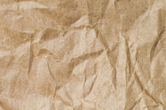 Abstract brown recycle crumpled paper for background : crease of Stock Photo