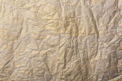 Abstract brown recycle crumpled paper for background. paper textures background for christmas or new year Royalty Free Stock Photo