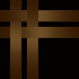 Abstract brown ribbon on black Royalty Free Stock Photography