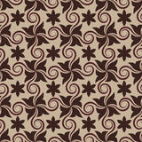 Abstract brown seamless pattern Royalty Free Stock Images