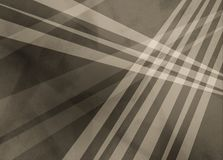 Abstract brown sepia background with white stripes or lines over triangle and geometric shapes in layered trendy design Royalty Free Stock Photos