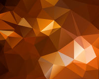 Abstract brown shiny polygon background Stock Image