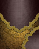 Abstract Brown texture with gold border. Template for design. copy space for ad brochure or announcement invitation, abstract back. Ground Royalty Free Stock Images