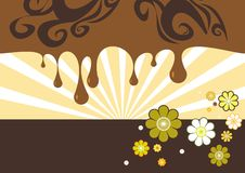 Abstract brown-tone background. An abstract illustrated brown-tone background stock illustration