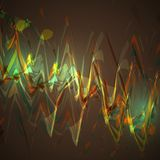 Abstract brown wave background Royalty Free Stock Photography