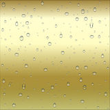 Abstract brown and yellow metal  gold, bronze  gradient backgr. Abstract brown and yellow metal ( gold, bronze ) gradient background with clear water drops Royalty Free Stock Photos