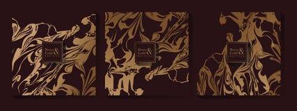 Abstract Bruin en Gouden Patroon stock fotografie