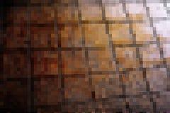 Abstract bruin mozaïekblok Royalty-vrije Stock Afbeeldingen