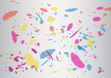 Abstract brush colorful silver Vector Background Stock Image