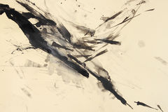 Abstract brush painting Royalty Free Stock Image