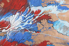 Abstract brush painting Royalty Free Stock Images