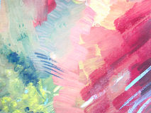 Abstract brush painting background. Children's gouache drawing.  Royalty Free Stock Photos