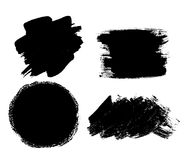 Abstract Brush Stroke Black Ink Pain. Dirty Artistic Grunge Desi Stock Images