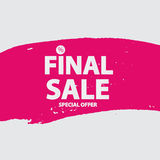 Abstract Brush Stroke Designs Final Sale Banner in Black, Pink a. Nd White Texture with Frame. Vector Illustration EPS10 Stock Photos