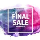 Abstract Brush Stroke Designs Final Sale Banner with Frame. Vector Illustration. EPS10 Stock Image