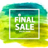 Abstract Brush Stroke Designs Final Sale Banner with Frame. Vector Illustration. EPS10 Royalty Free Stock Photos