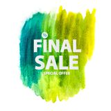 Abstract Brush Stroke Designs Final Sale Banner. Vector Illustration. EPS10 Royalty Free Stock Images