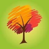 Abstract Brush Stroke Tree Royalty Free Stock Photos