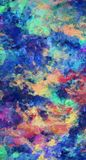 Abstract Brush Strokes. Colorful Abstract Painting. 3D rendering Royalty Free Stock Photography