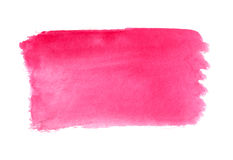 Abstract brush strokes, pink watercolor background Royalty Free Stock Photos