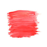 Abstract brush strokes, red watercolor background Stock Photos