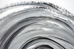 Abstract black and white hand painted background Royalty Free Stock Photography
