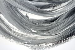 Abstract black and white hand painted background. Abstract brushed black and white hand painted acrylic background, creative abstract hand painted background Royalty Free Stock Photography