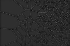 Abstract brushed metal 3d voronoi grate on black background Royalty Free Stock Image