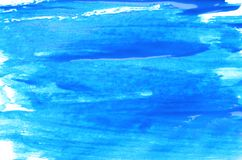 Abstract brushstrokes of blue paint royalty free stock photography