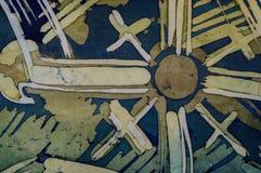 Abstract brushstrokes, fragment, hot batik, background texture, handmade on silk royalty free stock photography