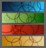 Abstract bubble banner set Stock Images