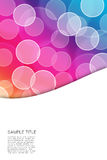 Abstract bubble colorfully background. Stock Image