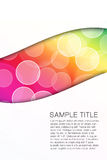 Abstract bubble colorfully background. Stock Photo