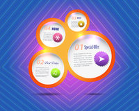 Abstract Bubble Numbered Banner Vector Background Stock Photography