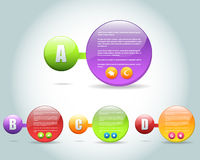 Abstract Bubble Numbered Banner Vector Design. Vector banner, you can change this image that it was uploaded also with eps10 file Royalty Free Stock Photos