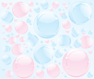 Abstract bubble soap illustration Royalty Free Stock Photos