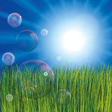 Abstract bubbles background Stock Image