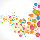 Abstract bubbles background. Full vector graphic style elements Royalty Free Stock Photography