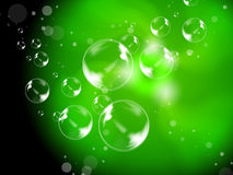 Abstract Bubbles Background Shows Beautiful Creative Spheres Stock Image