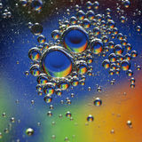 Abstract bubbles. Mixture of olive oil and water Royalty Free Stock Photography