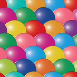 Abstract bubbles multicolor background. Seamless. Vector illustration Stock Photography