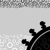 Abstract bubbles wallpaper. Small ducks in abstract water Stock Illustration