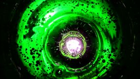 Abstract bubbles in water like in space against multicolor background. Abstract bubbles in water like in space against green lime background, or fizzy water in stock video footage