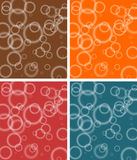 Abstract bubbly pattern in brown, red, orange and blue Royalty Free Stock Photography