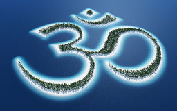 Abstract Buddhist om sign Royalty Free Stock Photography